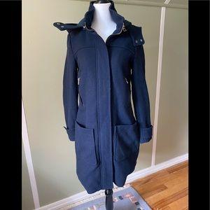 Zara Wool Coat Navy
